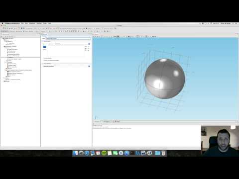 Comsol Multiphysics 5 tutorial for beginners: Scattering Cross Section of a Si nanoparticle