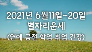 2021년 6월11일~20일 별자리운세 (애정 금전 취업 학업 건강)