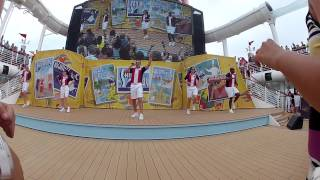 "Disney Fantasy ""Sailing Away"" -- deck party at front and center"
