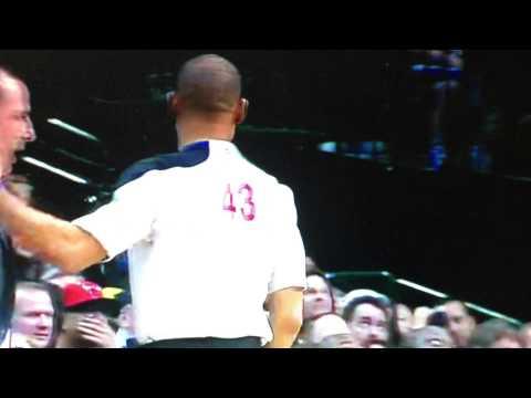 Carlos Boozer punches Danny Crawford in the nuts! Bulls vs. Dallas Mavericks 3/30/13