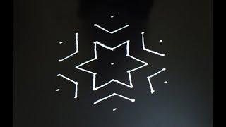 Daily rangoli 7X4 dots muggulu designs kolam rangoli designs