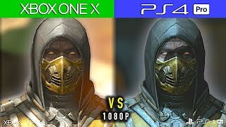 XBOX ONE X  vs  PS4 PRO -  Comparativa Gráfica 1080P  | Mortal Kombat X