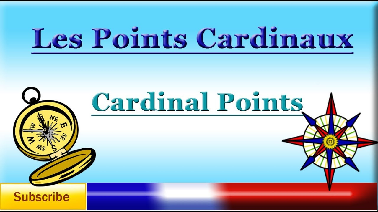 learn french cardinal points les points cardinaux. Black Bedroom Furniture Sets. Home Design Ideas