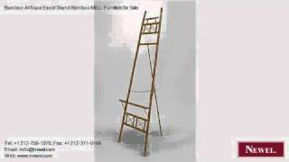Bamboo Antique Easel Stand Bamboo Misc. Furniture For Sale