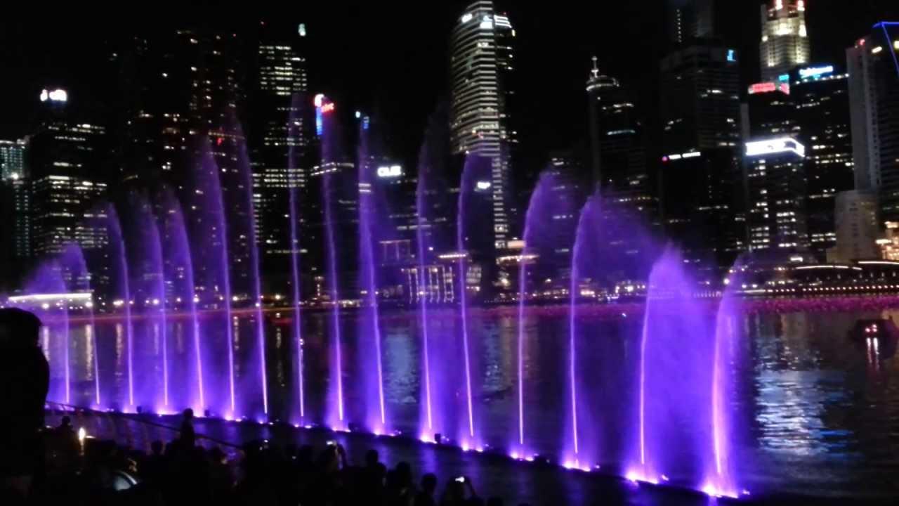 Laser Show At Marina Bay Sands Promenade Singapore 1080p Youtube
