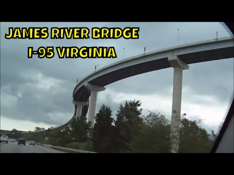 James River Crossing Bridge from I-95 ~ What an awesome Bridge ~ Virginia