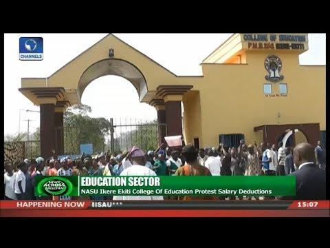 NASU Ikere Ekiti College Of Education Protest Salary Deductions | News Across Nigeria |