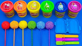Satisfying Asmr l How To Make Rainbow Lollipop Candy With Foam Cutting ASMR #217 Bon Bon