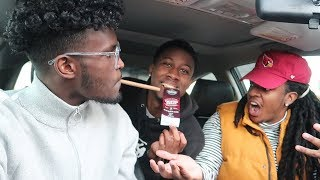 ROLLING UP IN THE CAR PRANK ON POUDII **PRANK WARS**