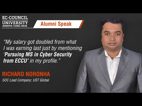 Richard Noronha, EC-Council University Alumni Had Fantastic Things To Say About His Experience