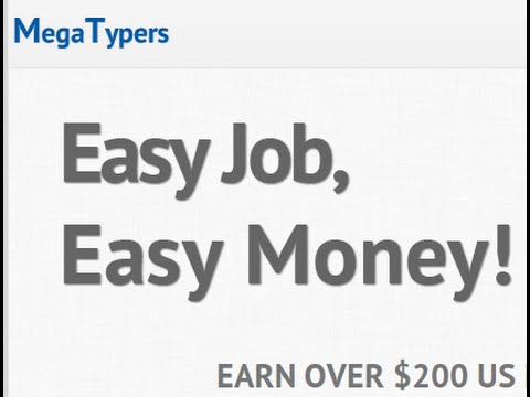 Money Online | Mega Typers | Easy Job - YouTube