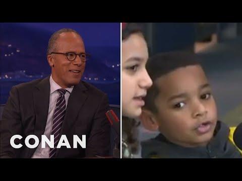 Lester Holt Has Plans To Meet His Littlest Fan  - CONAN on TBS