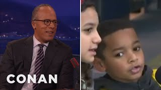 Lester Holt Has Plans To Meet His Littlest Fan  - CONAN on TBS