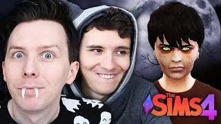DIL BECOMES A VAMPIRE - Dan and Phil Play: Sims 4 #57