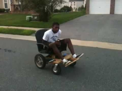 Homemade Wooden Electric Wheelchair Mk 2 Youtube
