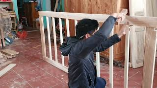 carpenter process for making wooden beds  carpenter dong  woodworking