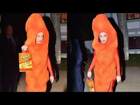 Katy Perry WINS With Flamin' Hot Cheeto Halloween Costume