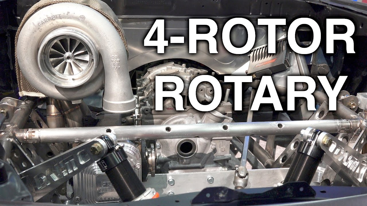Rotary Engine Cars >> The Epic 4 Rotor Rotary Engine Never Used In A Production Car