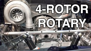 The Epic 4-Rotor Rotary Engine - Never Used In A Production Car