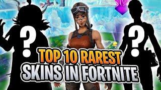 Top 10 RAREST Fortnite Skins! (Fortnite Battle Royale)