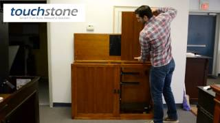 Touchstone Grand Elevate Mission Oak TV Lift Cabinet