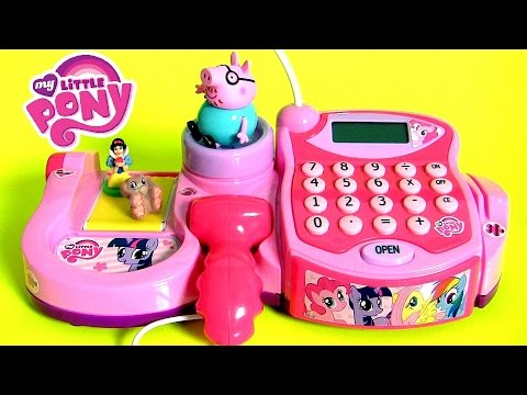 Thumbnail: My Little Pony Electronic Cash Register Toy with Scanner Lights 'n Sounds Play-Doh Surprise Eggs