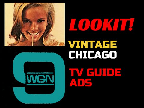 CHICAGO TV- Vintage TV Listings Print Advertising/Local Stations