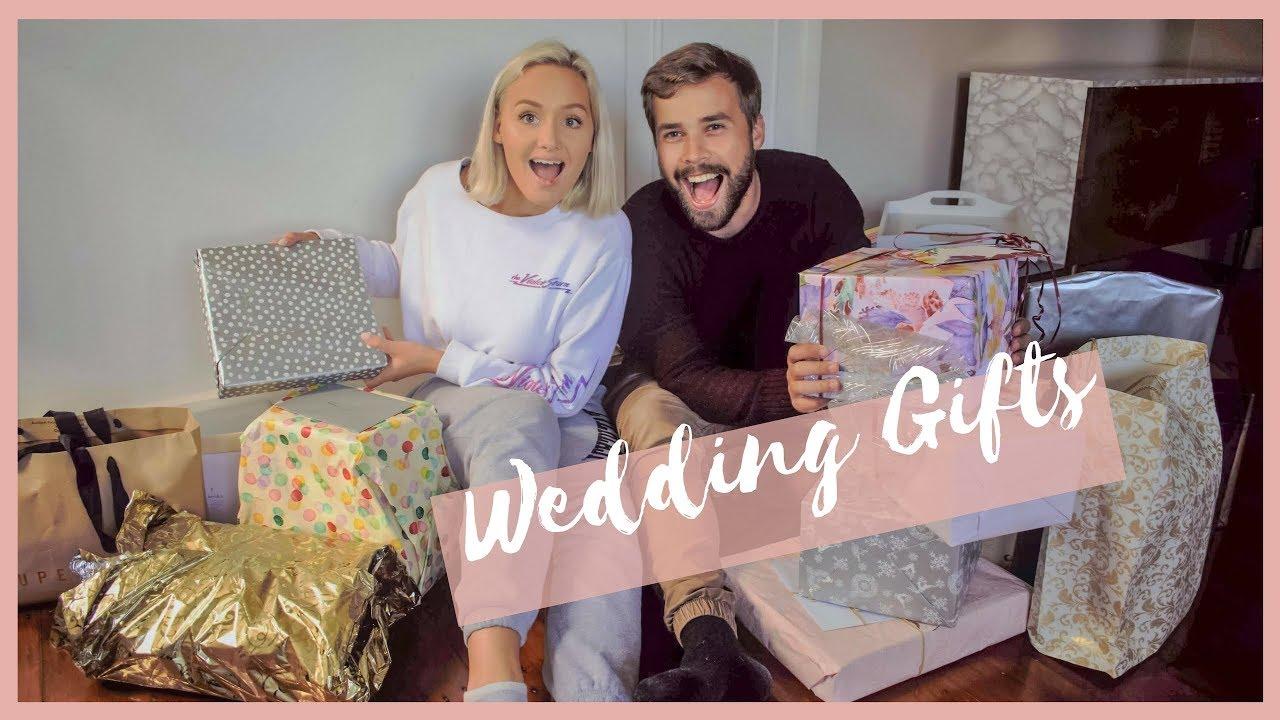 Opening Wedding Gifts: Mr & Mrs Thomas - YouTube