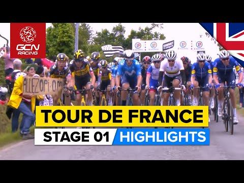 Tour de France Stage 1 Highlights | Crashes, Chaos & An Epic Final Climb!