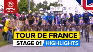 Tour de France 2021 Stage 1 Highlights   Crashes, Chaos & An Epic Attack From Alaphilippe!