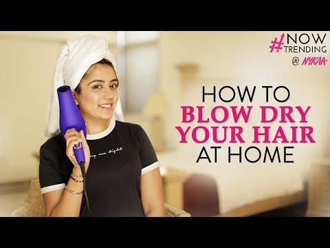How to Blow Dry Your Hair At Home Ft. Myhappinesz + GIVEAWAY(CLOSED)   Nykaa