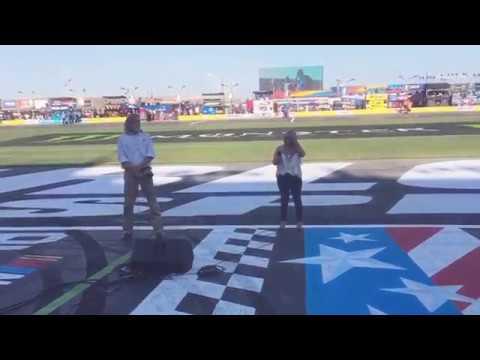 Kristy Lynn NASCAR All Star Race 2017 God Bless America