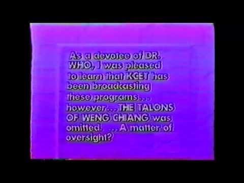 KCET Talkback, July 1989, Doctor Who