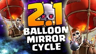 CHEAPEST BALLOON CYCLE! 2.1 SUDDEN DEATH CHALLENGE!| Clash Royale