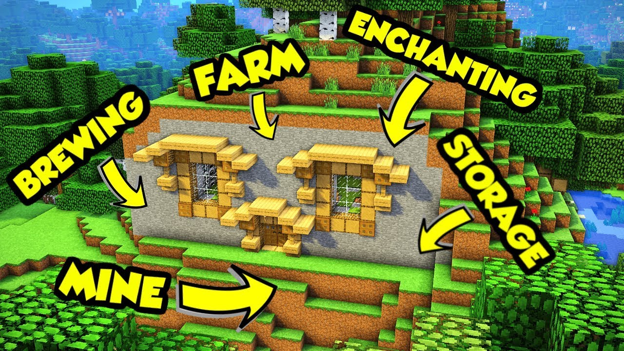 Minecraft Hillside House Tutorial (How to Build)
