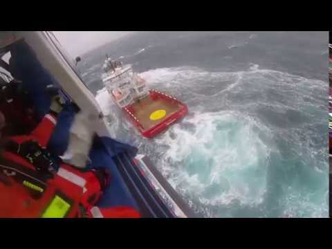 Footage released of a North Sea Search and Rescue Operation
