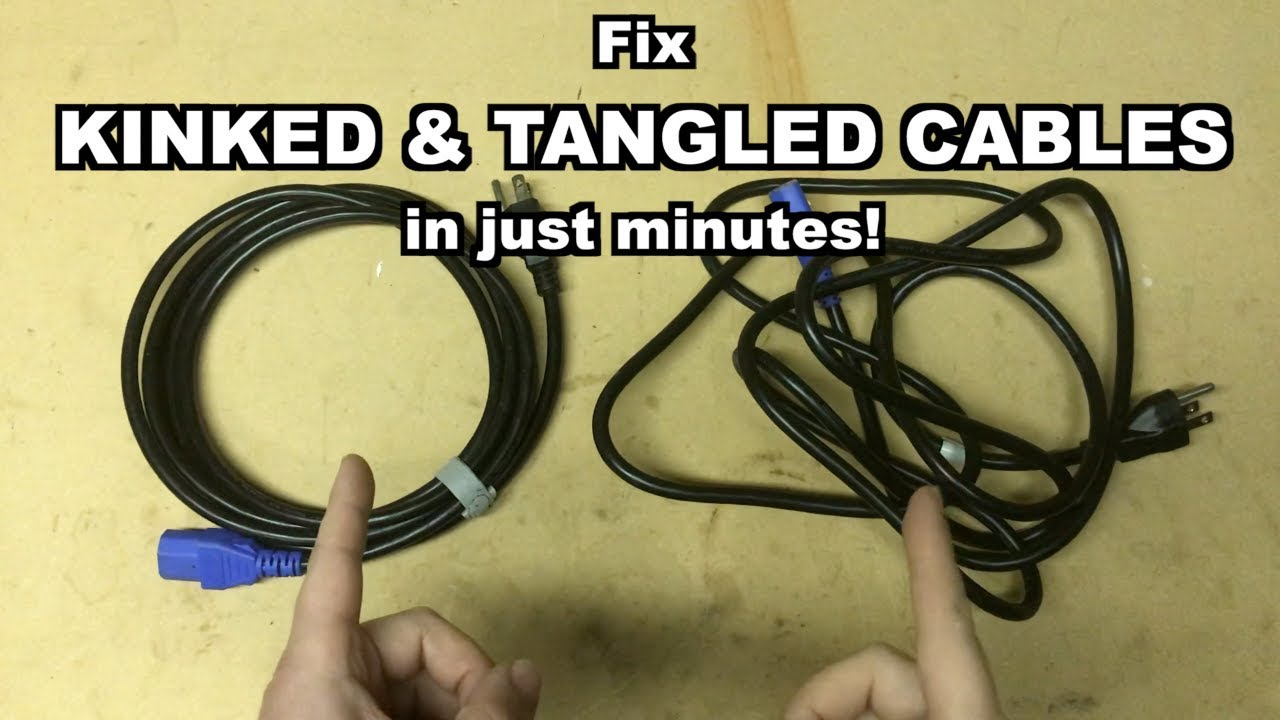 Fix Kinked Cables In Minutes You