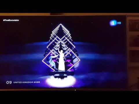 Espontáneo Eurovision 2018 con Reino Unido