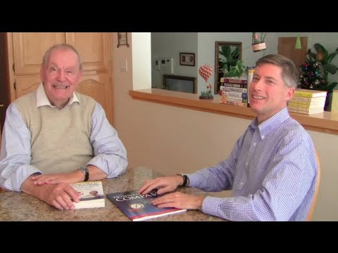 Matthew Cross with Richard N. Bolles, author of What Color Is Your Parachute