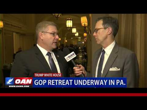 Rep. Barry Loudermilk at the GOP Retreat in PA.