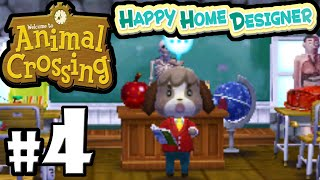 Animal Crossing Happy Home Designer PART 4 Gameplay Walkthrough (DAY 6 Spooky School House) 3DS