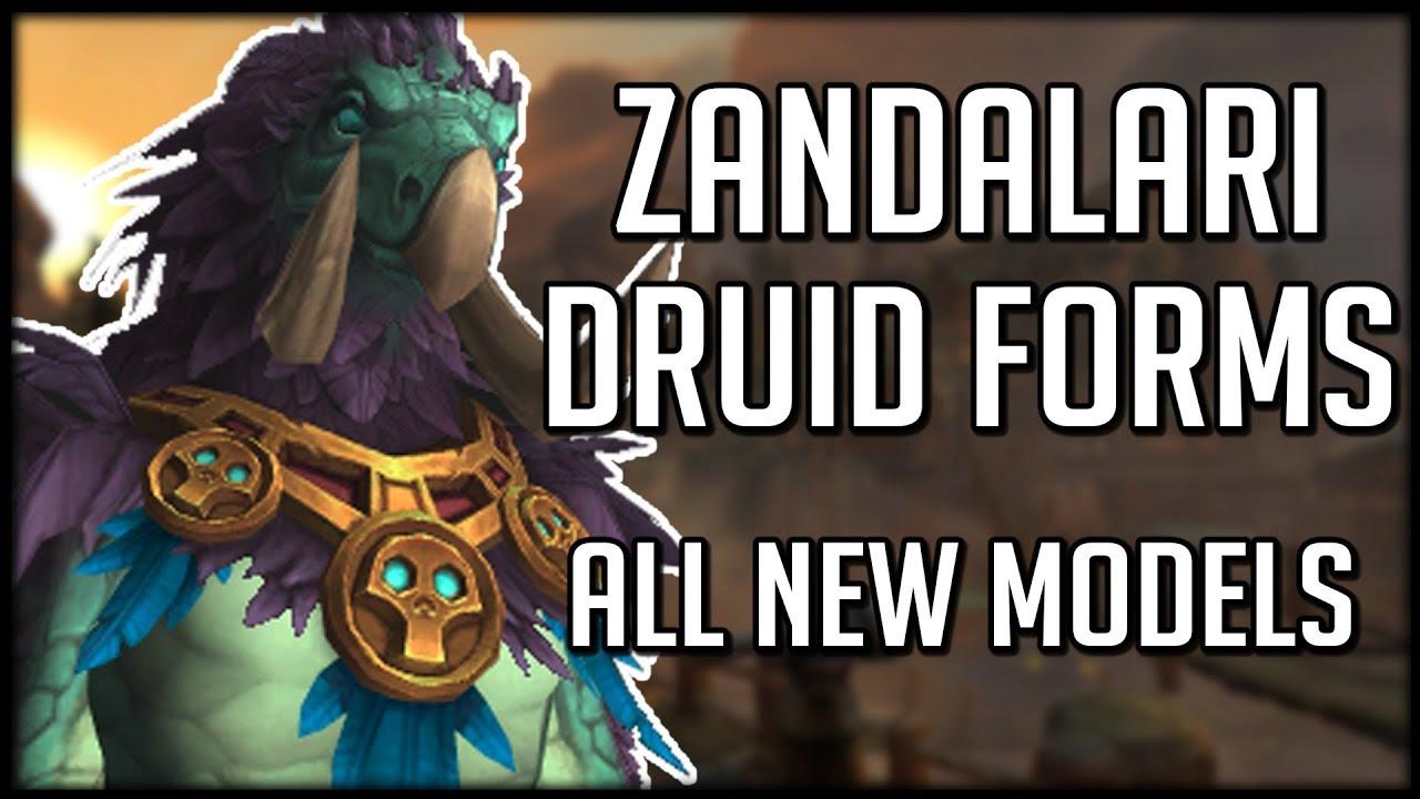 NEW ZANDALARI TROLL DRUID FORMS! Amazing Moonkin Model! | WoW Battle for  Azeroth