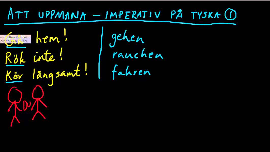 Imperativ på tyska - uppmaningsform (1)