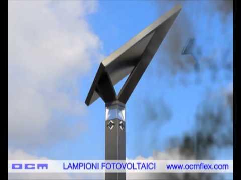 Lampioni fotovoltaici solari alimentati esclusivamente dallenergia