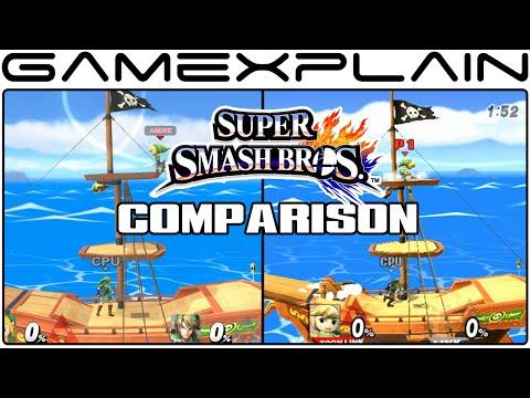 Pirate Ship Head-to-Head Comparison (Smash Bros Wii U vs. Smash Bros Brawl)