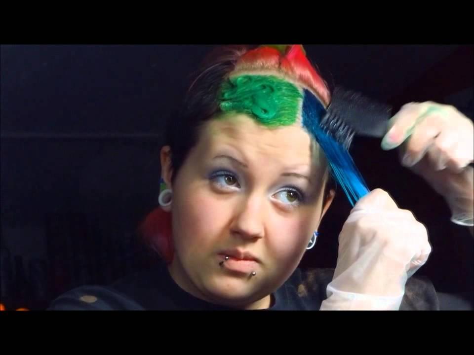 Haare farben mit eierfarbe