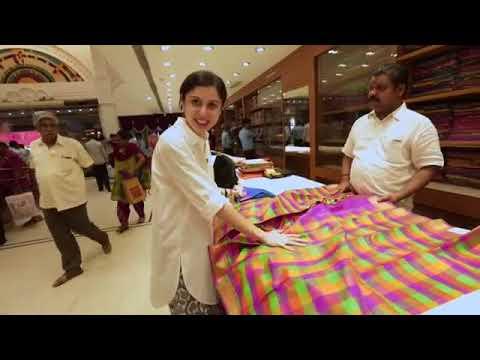 KANCHIPURAM SILK SAREE SHOPPING @ NALLI SILKS CHENNAI