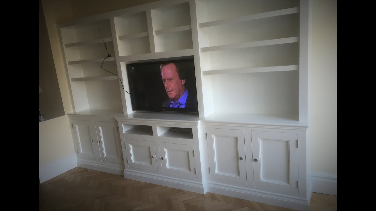 How To Build Tv Wall Cabinets  YouTube