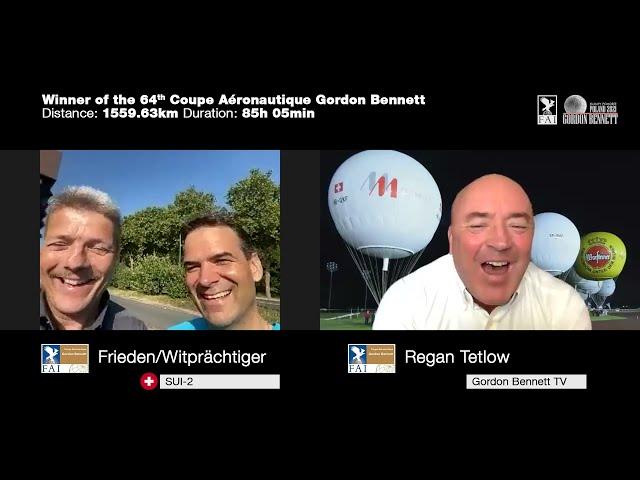 Interview with the winner SUI-2 (Kurt Frieden/Pascal Witprächtiger) - 64th Gordon Bennett
