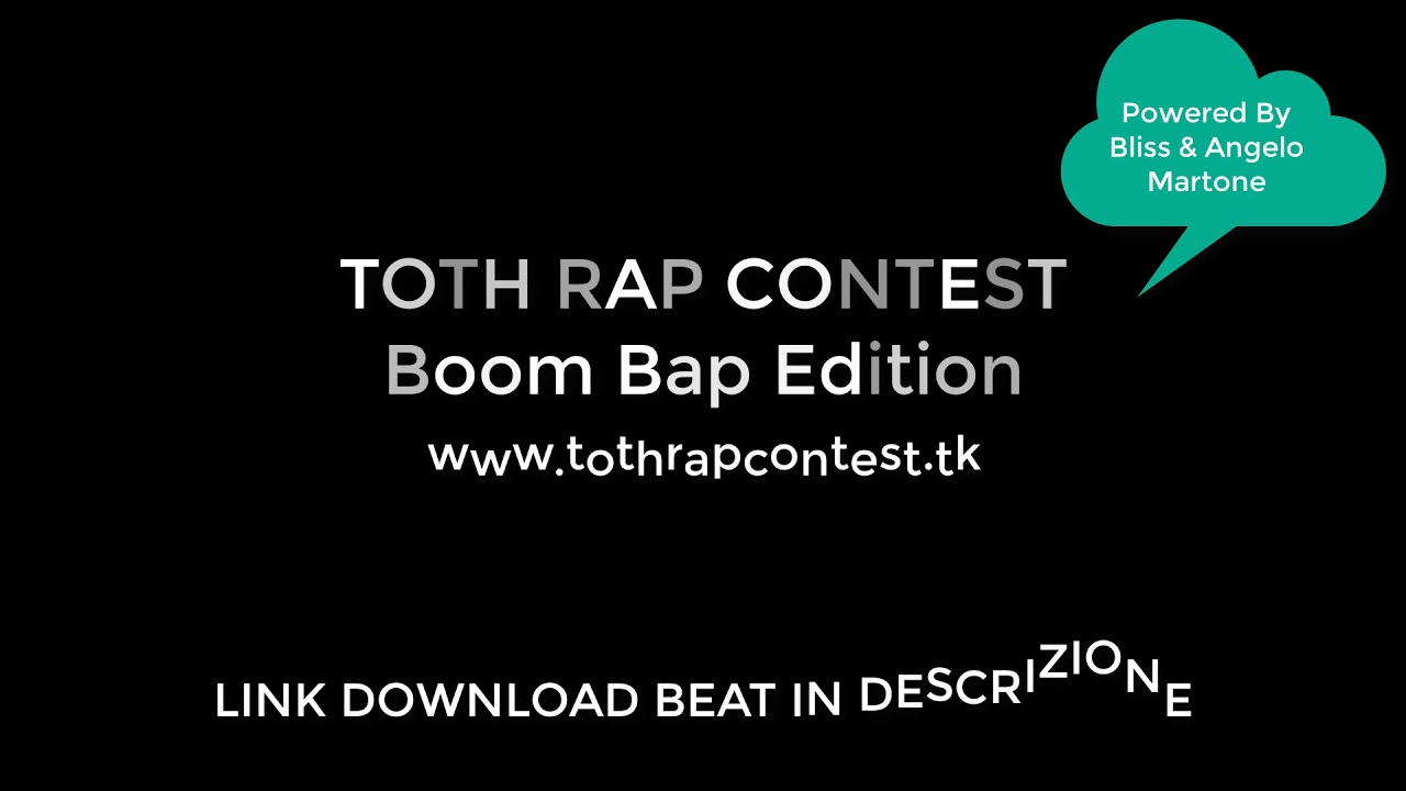 TOTH RAP Contest - Boom Bap Edition 2018 Instrumental Beat (Prod  by Bliss)